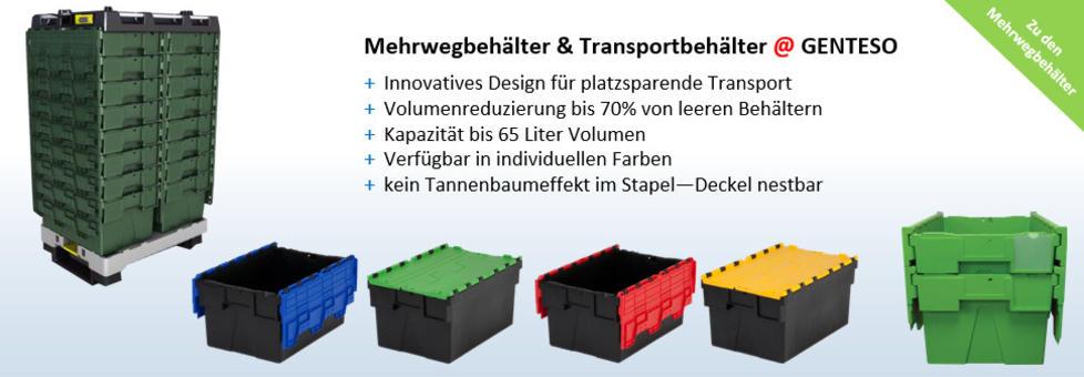 Mehrwegbehälter | Behälter mit integriertem Deckel