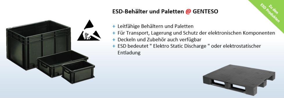 ESD Behältern, Leitfahige Behälter, Schutz von elektronischen Bauteilen