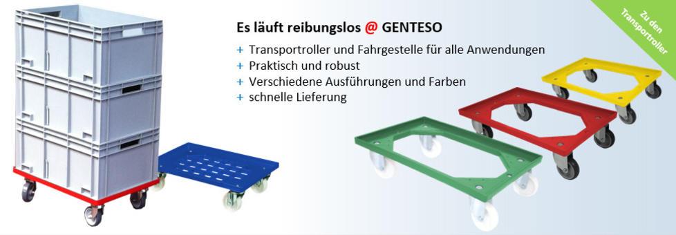Transportroller, Rollwagen aus Kunststoff, Fahrgestelle für Euro-Stapelbehälter