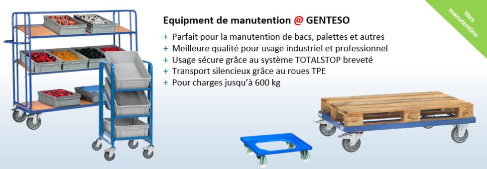Chariots et équipement de manutention