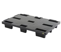 ESD-Nestbare Exportpalette 1200x800x155 • geschlossenes Deck • sehr leicht