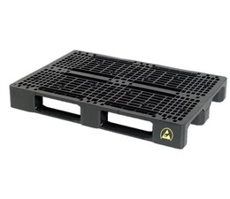 ESD Conductive Plastic EURO pallet 1200x800x150 with 3 skids