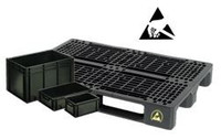 Conductive stacking-, transportboxes and pallets • ESD solutions