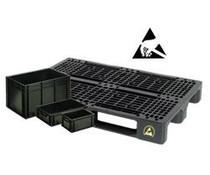 Bacs, Palettes & solutions ESD • conducteur pour électronique