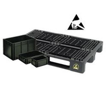 Conductive boxes & Pallets • ESD solutions