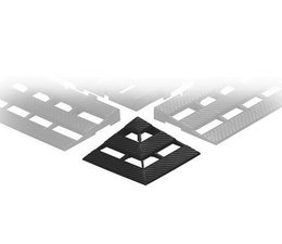 ESD Hoekverbinding voor conductieve kunststof vloerroosters