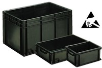 ESD Conductive stacking and transport boxe