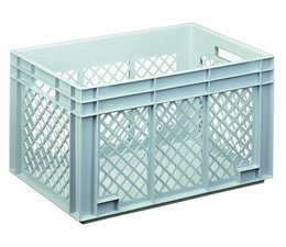 Eurobehälter 600x400x340 mm durchbrochene Wände, geeignet für schwere Lasten und Lebensmittekontakt