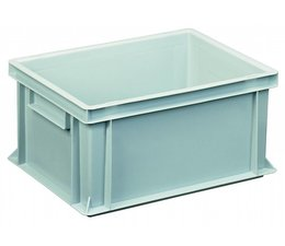 Eurocontainer 400x300x170 mm solid walls and bottom, heavy duty, food proved plastic