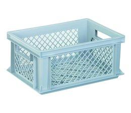 Eurobehälter 400x300x175 mm durchbrochene Wände und Boden, geeignet für schwere Lasten und Lebensmittekontakt