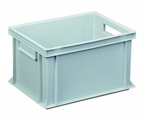 Euro container 400x300x220 solid open handles