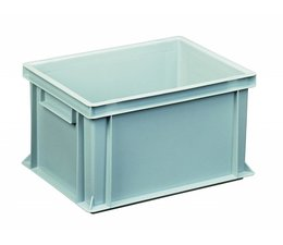 Eurocontainer 400x300x220 mm solid walls and bottom, heavy duty, food proved plastic