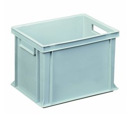 Eurocontainer 400x300x270 mm solid and reinforced base, heavy duty, food proved plastic