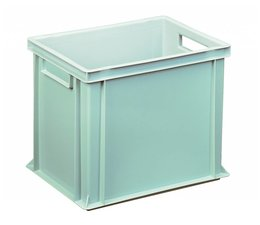 Eurocontainer 400x300x320 mm solid and reinforced base, heavy duty, food proved plastic