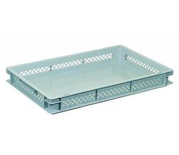Eurobehälter 600x400x75 mm durchbrochene Wände, geeignet für schwere Lasten und Lebensmittekontakt