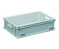 Euro container 600x400x150 solid open handles