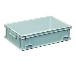 Bac norme Europe 600x400x150 mm fond et parois plein(es), pour charges lourdes et usage alimentaire