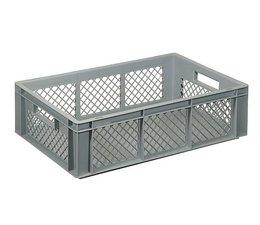 Eurobehälter 600x400x170 mm durchbrochene Wände, geeignet für schwere Lasten und Lebensmittekontakt