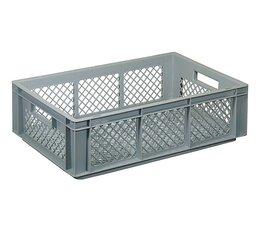 Eurobehälter 600x400x170 mm durchbrochene Wände und Boden, geeignet für schwere Lasten und Lebensmittekontakt