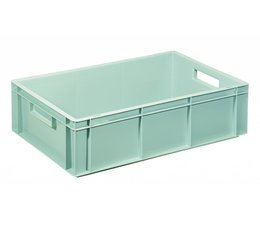 Eurocontainer 600x400x170 mm solid and reinforced base, heavy duty, food proved plastic