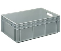 Euro container 600x400x220 solid open handles