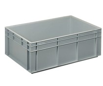 Euro container 600x400x220 solid two handles