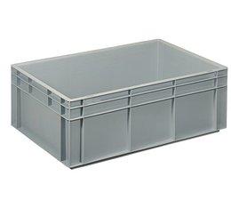 Bac norme Europe 600x400x220 mm fond et parois plein(es), pour charges lourdes et usage alimentaire