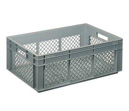 Eurobehälter 600x400x220 mm durchbrochene Wände, geeignet für schwere Lasten und Lebensmittekontakt