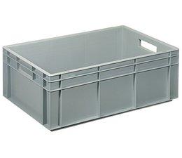 Bac norme Europe 600x400x216 mm fond plein renforcé, pour charges lourdes et usage alimentaire