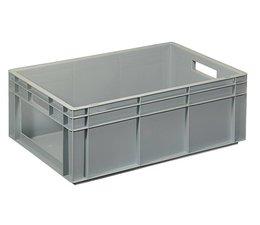 Bac norme Europe 600x400x220 mm parois pleines et front ouvert, pour charges lourdes et usage alimentaire