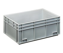 Euro container 600x400x236 solid two handles