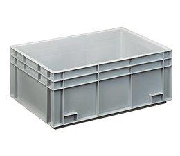 Bac norme Europe 600x400x236 mm fond et parois plein(es), pour charges lourdes et usage alimentaire