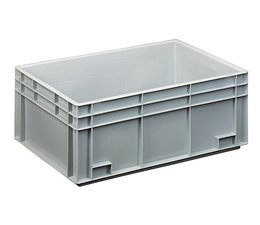 Eurocontainer 600x400x236 mm solid walls and bottom, heavy duty, food proved plastic