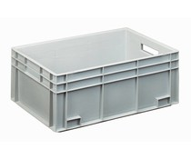 Euro container 600x400x230 solid and reinforced base