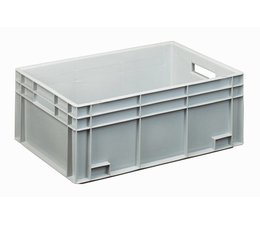 Eurocontainer 600x400x230 mm solid and reinforced base, heavy duty, food proved plastic