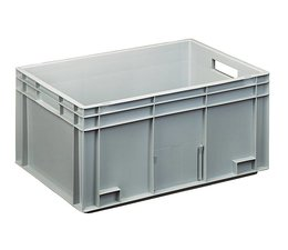 Eurocontainer 600x400x280 mm solid and reinforced base, heavy duty, food proved plastic
