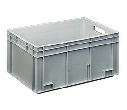 Euronorm bak 600x400x280 mm gesloten versterkte bodem, voor zware lasten en voedingsgeschikt