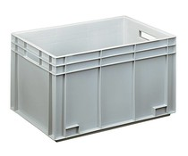 Euro container 600x400x340 solid open handles