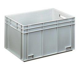Euronorm bak 600x400x340 mm gesloten wanden en bodem, voor zware lasten en voedingsgeschikt