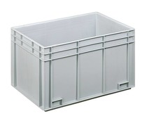 Euro container 600x400x343 solid two closed handles