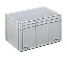 Bac norme Europe 600x400x343 mm fond et parois plein(es), pour charges lourdes et usage alimentaire