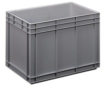 Euro container 600x400x420 solid two handles