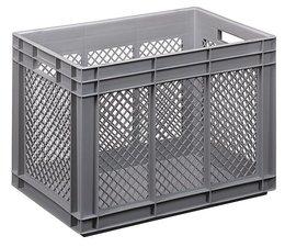 Eurobehälter 600x400x420 mm durchbrochene Wände, geeignet für schwere Lasten und Lebensmittekontakt