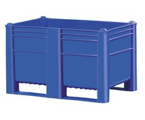 DOLAV Caisse palette 1200x800x740 • 500L bleu plein