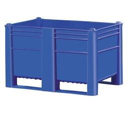 DOLAV Palettenbox 1200x800x740 mm, Volumen 500 l, 2 Kufen, geeignet für schwere Lasten und Lebensmittekontakt