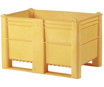 DOLAV Box Pallet 1200x800x740 • 500L yellow solid