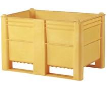 DOLAV Palettenbox 1200x800x740 • 500L gelb geschlossen