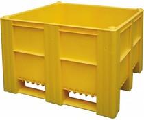 DOLAV Palletbox 1200x1000x740 • 620L  geel gesloten