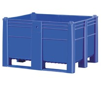 DOLAV Palletbox 1200x1000x740 • 600L blauw gesloten