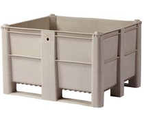 DOLAV Palletbox 1200x1000x740 • 600L grijs gesloten
